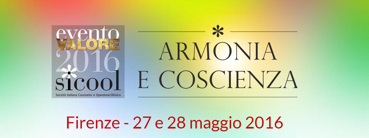 Armonia e coscienza: evento valore SICOOl 2016